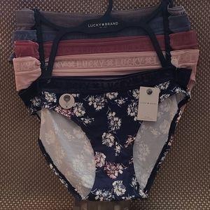 Lucky Brand super soft bikinl panties - 5 pair!